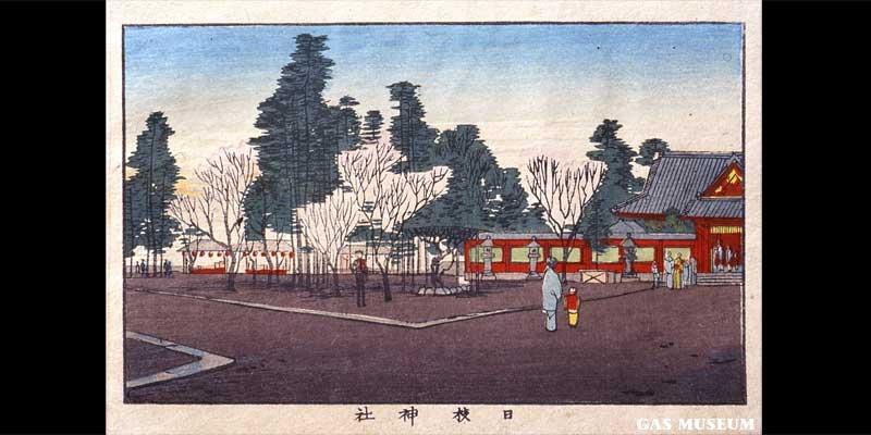 東京真画名所図解 日枝神社