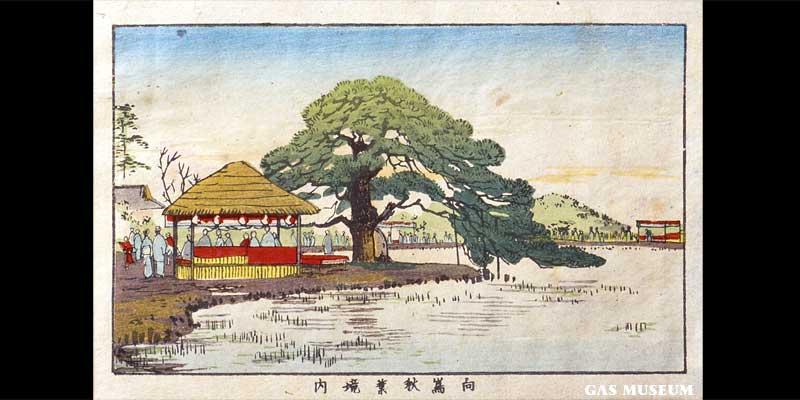 東京真画名所図解 向島秋葉境内