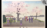 東京真画名所図解 向島桜