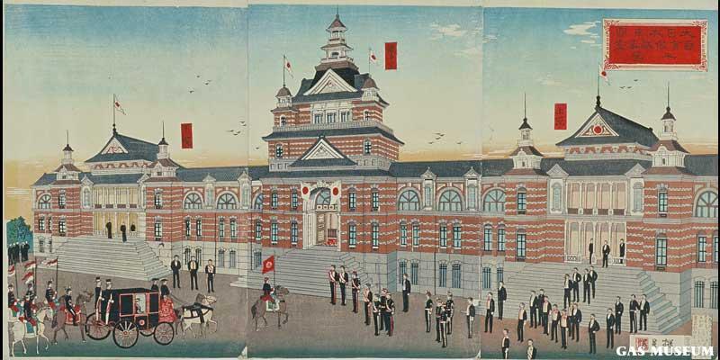 大日本帝国 国会仮議事堂之図