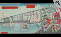 憲法発布式大祭之図 大日本東京 吾妻橋真画
